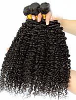 3 Peças Kinky Curly Tramas de cabelo humano Cabelo Brasileiro Tramas de cabelo humano Kinky Curly