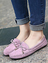 Women's Flats Summer Comfort / Closed Toe PU Casual Flat Heel Others Purple / Red / Almond