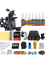 Color Tool Kit Single Coil Dedicated Machine Tattoo Equipment Package(Handle Color Random Delivery)