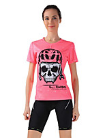 Sport Fahhrad/Radsport Trikot + Shorts/Radtrikot+Kurze Radhose / Oberteile / Unten Damen Kurze Ärmel Atmungsaktiv / Schweißableitend