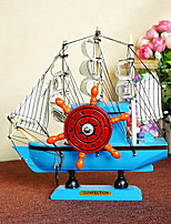 Wooden Eight Sailing Furnishing Articles Music Box
