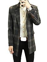 Winter woolen suit slim windbreaker style Plaid Korean girl coat Long casual wool coat tide
