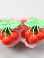 moldes de silicone cereja forma de chocolate, moldes de bolo, moldes de sabão, ferramentas de decoração bakeware