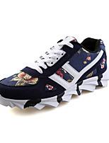 Scarpe da uomo-Sneakers alla moda-Casual-Tulle-Nero / Blu / Bianco