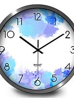 Charm Purple Study Living Room Bedroom Home Decorative Quartz Silent Wall Clock