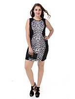 Women's Plus Size Party Dress Large Size Print Casual Club Dress