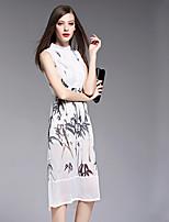 BOMOVO® Women's Stand Sleeveless Midi Dress-B16XQU0