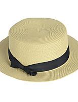 England Spring And Summer Female Beach Sun Flat Top Hat