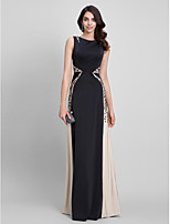 TS Couture® Formal Evening Dress Sheath / Column Bateau Floor-length Jersey with Appliques