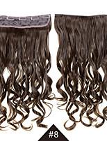 resistente ao calor cosplay sintética cabelo # 8 24inch 60cm de comprimento clipe sintético cacheados cabelo ondulado no cabelo sintético