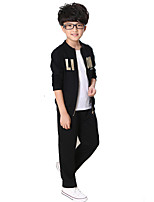 Boy's Cotton Spring/Autumn Sport Suit Set Long Sleeve Jacket And Pants Kids Clothes Two-Piece Set