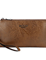 Men-Formal / Casual / Office & Career / Shopping-PU-Clutch-Brown / Black / Khaki