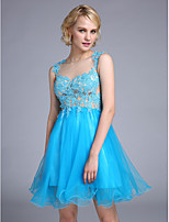 TS Couture® Cocktail Party Dress A-line Bateau Knee-length Tulle with Appliques / Beading