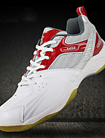Men's Shoes Leather / Tulle Athletic / Casual Sneakers Athletic / Casual Sneaker Low Heel Lace-up White