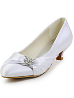 Women's Spring / Summer / Fall Heels / Round Toe Silk Wedding / Dress / Party & Evening Low Heel Sparkling Glitter / Ruffles / Slip-on