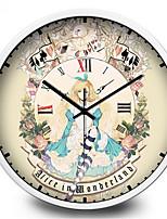 Creative Rome Girl Mute Quartz Wall Clock
