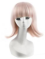 nueva peluca cosplay recta corta llegada partido de la manera peluca de color rosado pelucas baratas
