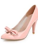 Mujer-Tacón Stiletto-Tacones / Puntiagudos-Tacones-Oficina y Trabajo / Casual-Cuero Patentado-Negro / Rosa / Blanco