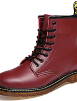 Women's Shoes Nappa Leather Spring / Fall / Winter Cowboy / Western Boots Boots Outdoor / Athletic / Casual Flat Red