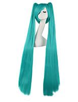 Perucas de Cosplay-Vocaloid-Verde- com120cm