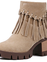 Women's Shoes Chunky Heel Fashion Boots / Round Toe Boots Dress Black / Brown / Camel