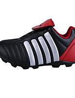 Zapatos Fútbol Materiales Personalizados Negro y Rojo Hombre