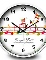 Butterfly Notes Of The Living Room Music Room Wall Hanging Metal Quartz Wall Clock
