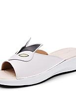 Women's Slippers & Flip-Flops Summer Styles / Open Toe PU Casual Wedge Heel Black / Yellow / White