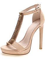 Women's Shoes Suede Summer Heels / Platform Sandals Party & Evening / Dress / Casual Stiletto Heel Buckle /