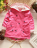 Girl's Casual/Daily Patchwork Suit & Blazer,Cotton Spring / Fall Pink / Red / Yellow