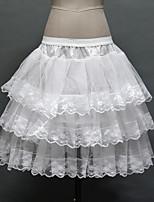 Slips Ball Gown Slip Knee-Length 3 Tulle Netting / Polyester Birdal Petticoats White