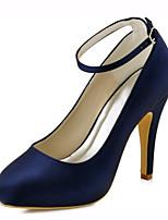 Homme-Mariage / Habillé / Soirée & Evénement-Bleu-Talon Aiguille-Talons-Chaussures à Talons-Satin Elastique