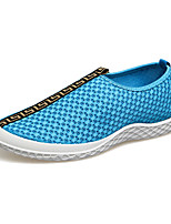 Men's Flats Spring / Fall Comfort Tulle Casual Flat Heel Others Black / Blue / Gray Walking