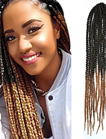 #27 Senegal / Gehäkelt Twist Braids Haarverlängerungen 24 Kanekalon 3 Strand 80g Gramm Haar Borten