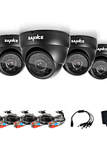 SANNCE® AHD 720P Dome Outdoor IR Cut CCTV Camera Kits Weatherproof Home Security System Cameras