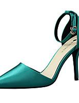 Da donna-Tacchi-Serata e festa / Formale-Tacchi / Comoda / A punta-A stiletto-Seta-Nero / Verde / Rosa / Rosso / Grigio