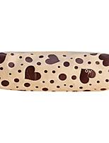 Flannelette Heart Pattern Pen Bag