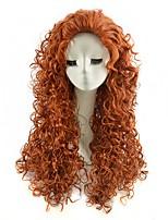 perruques cosplay couleur marron afro synthétiques perruques frisées crépus bon marché pour les femmes noires perruques de mode
