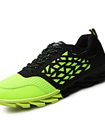 Men's Shoes Tulle Athletic Sneaker Flat Heel Lace-up Blue / Green / Orange EU39-43