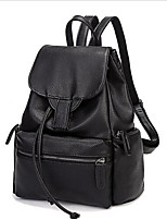 Women PU Casual / Outdoor Backpack Black