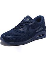 Zapatos Running Tul Negro / Azul Hombre
