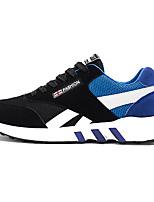 Hombre-Tacón Plano-Confort-Zapatillas de deporte-Deporte-Ante / Tul-Negro / Azul / Rojo