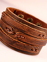 Genuine Leather Jewelry Punk Wristband Handmade Classic Vintage High Quality Bracelets
