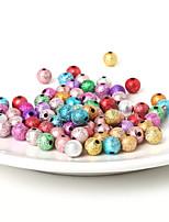 Beadia 8mm Acrylic Beads Gold Silver Plastic Beads 29g(Aprx.100pcs)