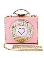 L.WEST Women's The Elegant Acrylic Telephone Shaped Evening Bag