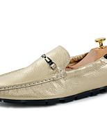 Herenschoenen Informeel / Feesten & Uitgaan Blauw / Bruin / Wit / Goud Nappaleer Platte schoenen
