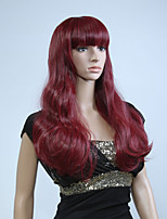 Capless Fuxia Color Long High Quality Natural Curly Hair Synthetic Wig