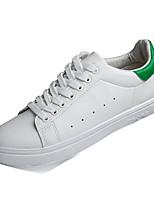Women's Spring / Summer / Fall Comfort PU Casual Flat Heel Black / Green / White