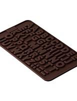 1 pcs 2016 Popular Alphabet Silicone Cake Mold Decorating Fondant Cookie Chocolate Mould(Pattern is random)