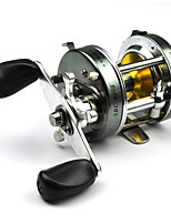 FDDL® Metal Round Profile Classic Baitcast Reel Fishing Reel Silver Right Hand 5.3:1